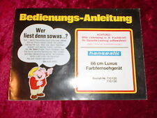Manuali di istruzioni Grundig Loewe PE molto altro radio cassetta TV: choose 1 piece