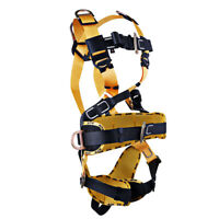 Full Body Rock Climbing High Work Rappelling Safety Harness Seat Belt Equip