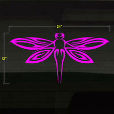 "Dragonfly Serene 24""x12"" PINK Car Window Vinal Vinyl Window Decal Sticker Grafix"