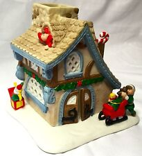 "Partylite Santas Workshop Christmas 6"" Village Candle Holder W/12 Pk Tealights"