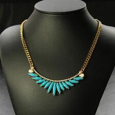 Collar Pluma Cisne Azul Cristal Moderno Original Noche Matrimonio QT 7