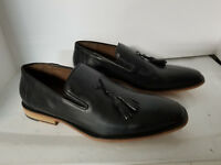 Messico European Slip On Black Leather Loafer Vero Cuoio Worn Once Size 10