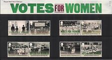 2018 GB QE2 ROYAL MAIL STAMP PRESENTATION PACK NO 552 VOTES FOR WOMEN