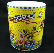 Mary Engelbreit Coffee Tea Mug Cup Happy Easter Spring Flowers Yellow Chick Eggs