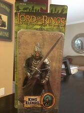THE LORD OF THE RINGS FELLOWSHIP KING ELENDIL ACTION FIGURE WITH SWORD SLASHING