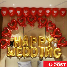 16 inch Foil Balloon Love Heart Couple Happy Wedding Party Home Decoration
