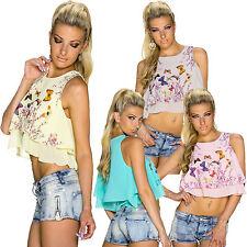 Geblümte Lockre Sitzende Damenblusen,-Tops & -Shirts mit Rundhals und Polyester