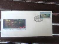 GARDENS OF AUSTRALIA $5 STAMP  FDC  WITH TASMANIA BOTANIC GDNS  PICTORIAL FDI