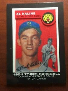 AL KALINE 2014 TOPPS  ROOKIE IMAGE PATCH (1954) - RCP-1
