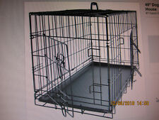 New listing 2 Door Black Pet Folding Cage Kennel with Abs Tray Lc 48-Inch