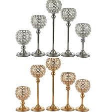 Large Stunning Tea light Candle Holders Crystal Glass Effect,Wedding Candlestick