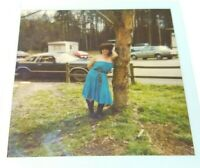 Trailer Park Honey Polaroid Photo Picture Sexy Woman Old Cars Big Hair Vtg