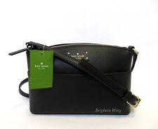 Kate Spade Millie Grove Street Crossbody Bag BLACK Leather Shoulder Handbag NWT