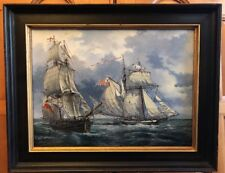 Sailing Ships Oil Painting by A.A. Orlinski Marine Nautical Art