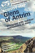 GLENS OF ANTRIM ACTIVITY MAP - NEW - NORTHERN IRELAND ORDNANCE SURVEY