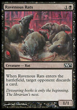 MTG 4x RAVENOUS RATS - RATTI FAMELICI - M13 - MAGIC