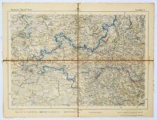 8 Landkarten Leinen Reymann's Special-Karte um 1840/1870 Wanderkarte