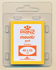 Prinz Scott Stamp Mounts Size 40/25 Clear Background Pack of 40
