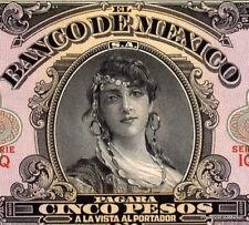 MEXIQUE billet neuf 5 PESOS Pick403f  1959 BELLE FEMME  GYPSY GIRL