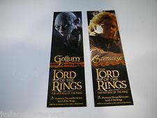 Promo Lord of the Rings Samwise & Gollum 2sided bookmark Return of the King