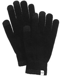 Mens Touchscreen Gloves Space Dye Black Recycled One Size ALFANI $32 - NWT