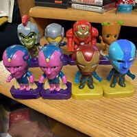Lot of 8 Mcdonalds Marvel Avengers Toys Hulk iron Man Groot Wasp Vision