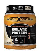 Body Fortress Super Advanced 100% Protein Isolate Vanilla Creme... Free Shipping