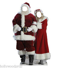 SANTA CLAUS CHRISTMAS LIFESIZE CARDBOARD STAND-IN STANDIN STANDUP STANDEE CUTOUT