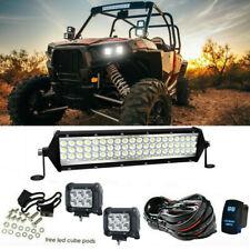 """12""""Inch Led Light Bar Kit For Polaris Sportsman Ace Ranger General RZR UTV ATV"""
