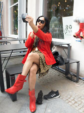 VEB Modezentrum BERLIN Damenjacke Jacke rot 70er True VINTAGE 70s merkel jacket