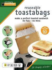 2 x BUSTE PER TOAST riutilizzabile TOSTAPANE TOAST tostato SANDWICH sacchetti