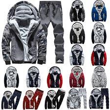 Herren Trainingsanzug Sportanzug Fleecejacke Winter Warm Kapuzenjacke Hoodies
