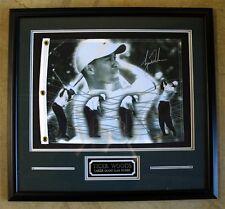 Tiger Woods Framed UDA PenCam Signed Pin Photo Flag Autographed Upper Deck Rare