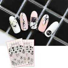 3D Nail Art Sticker Adhesive Manicure Decor Tips Ultra-thin Decal Marble Theme