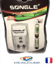 Chargeur de batterie à chargement rapide USB 2 fentes Station pour piles AA/AAA