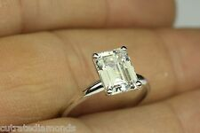 2.00 CT EMERALD CUT SOLITAIRE ENGAGEMENT RING 14 WHITE GOLD