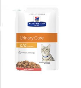 Hills Urinary Care C/D Multicare Cat Food Salmon x12 85g Pouches FREE POSTAGE
