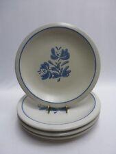 "Pfaltzgraff Yorktowne Blue 10-1/4"" Dinner Plates Set/4 USA"