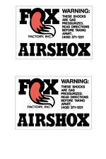 FOX FACTORY AIR SHOX Vintage Motocross  sticker set RM YZ CR KX  AHRMA