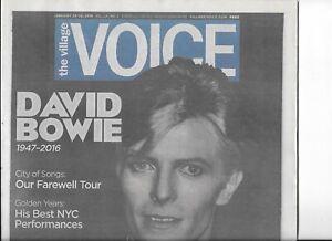 DAVID BOWIE Memorial Village Voice NYC