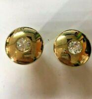 Coppia Pomello pomolo mobili cassetti ø 22mm in zama oro e inserto cristallo 2pz