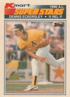 FREE SHIPPING-MINT-1990 Topps Kmart Dennis Eckersley #29 ATHLETICS SUPERSTARS