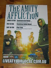 THE AMITY AFFLICTION - 2013 Australian Tour - Laminated Promotional Poster