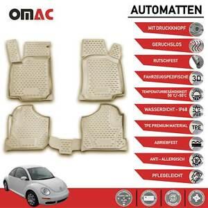 VW New Beetle 9C1 1C1 Premium Auto Fußmatte Gummimatte Matte Beige