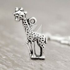 40pcs Lots Metal Charm Tibetan Silver Pendant Jewelry Making Giraffe 24x11x3mm