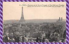 Cartolina - Parigi - Panorama pris de l'arco di triomphe