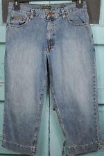 EDDIE BAUER Capri Jeans 10 Blue Denim Cropped Classic Rise Faded Wash