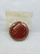 NOS Vintage Maroon Duotone Co. Celluloid Top Record Brush