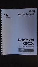 nakamichi 680zx service manual original repair book stereo cassette tape deck