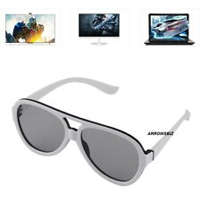 White Passive 3D Glasses Polarized Plastic Lenses view 3D TV Cinema Movies Games